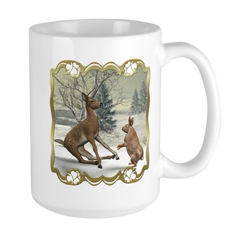 Bambi On Ice Large Mug