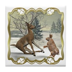 Bambi On Ice Tile Coaster