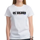 Red,white &amp; blue Army Grandma Tee