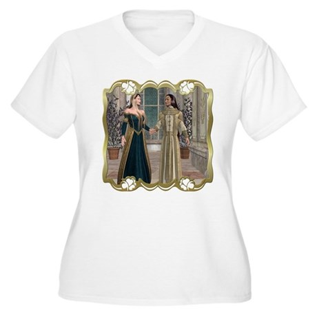 Camelot Women's Plus Size V-Neck T-Shirt