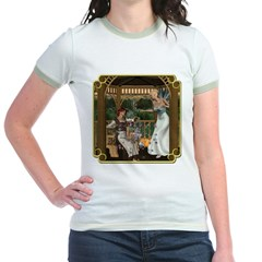 Cinderella & Godmother Jr. Ringer T-Shirt