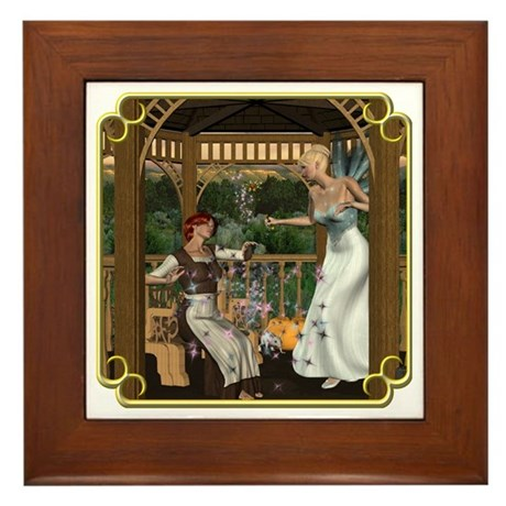 Cinderella & Godmother Framed Tile