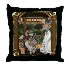 Cinderella & Godmother Throw Pillow