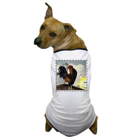 The Cock Crows Dog T-Shirt