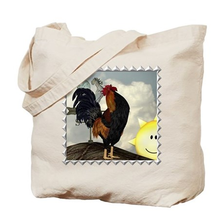 The Cock Crows Tote Bag