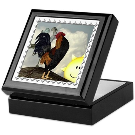 The Cock Crows Keepsake Box