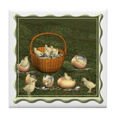 A Dozen Eggs Tile Coaster