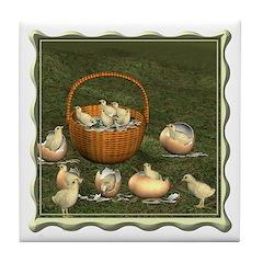 A Dozen Eggs Tile Coaster