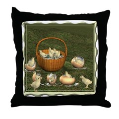 A Dozen Eggs Throw Pillow