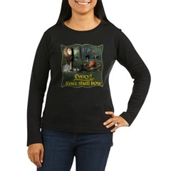 Every Knee Shall Bow Women's Long Sleeve Dark T-Sh