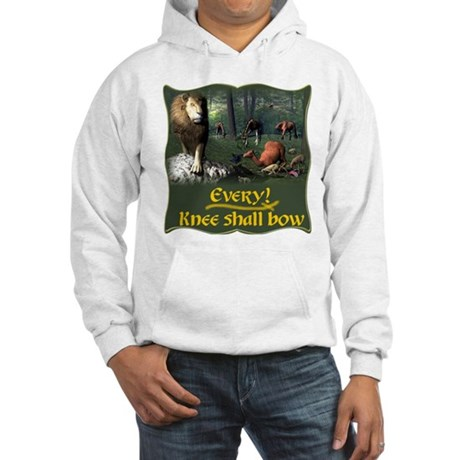 Every Knee Shall Bow Hooded Sweatshirt