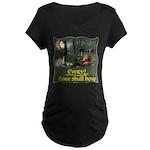 Every Knee Shall Bow Maternity Dark T-Shirt