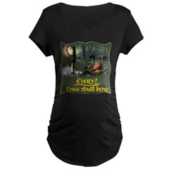 Every Knee Shall Bow Maternity Dark T-Shirt
