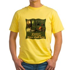Every Knee Shall Bow Yellow T-Shirt