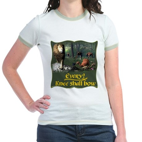 Every Knee Shall Bow Jr. Ringer T-Shirt