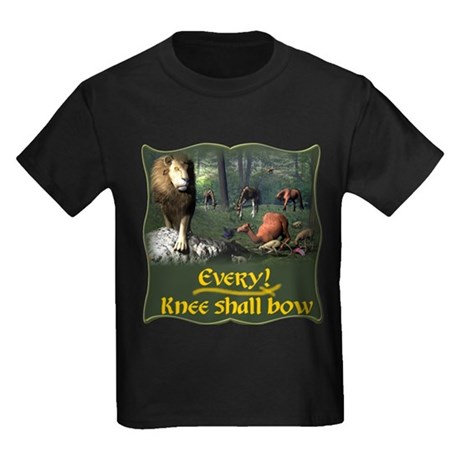 Every Knee Shall Bow Kids Dark T-Shirt