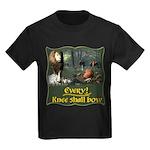 Every Knee Shall Bow Kids Dark T-Shirt