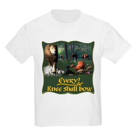 Every Knee Shall Bow Kids Light T-Shirt