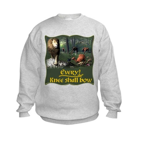Every Knee Shall Bow Kids Sweatshirt