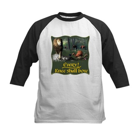 Every Knee Shall Bow Kids Baseball Jersey