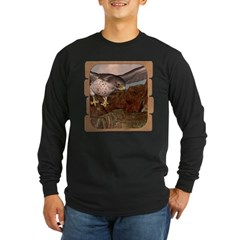 Flight of the Gyr Falcon Long Sleeve Dark T-Shirt