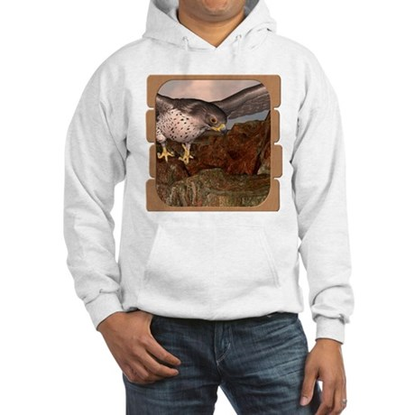 Flight of the Gyr Falcon Hooded Sweatshirt