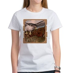 Flight of the Gyr Falcon Women's T-Shirt