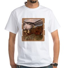Flight of the Gyr Falcon White T-Shirt