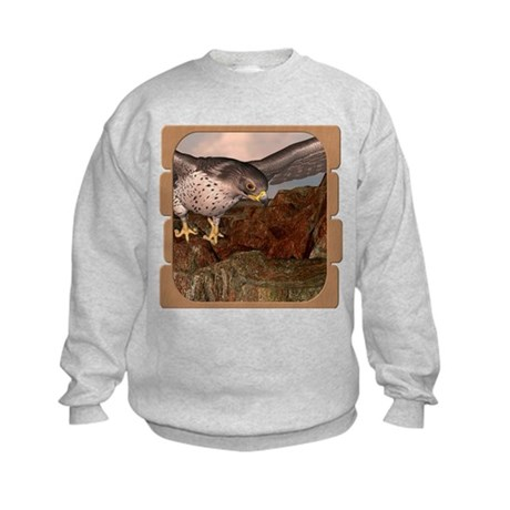 Flight of the Gyr Falcon Kids Sweatshirt