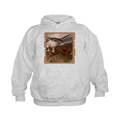Flight of the Gyr Falcon Kids Hoodie