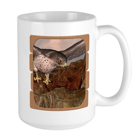 Flight of the Gyr Falcon Large Mug