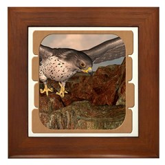 Flight of the Gyr Falcon Framed Tile