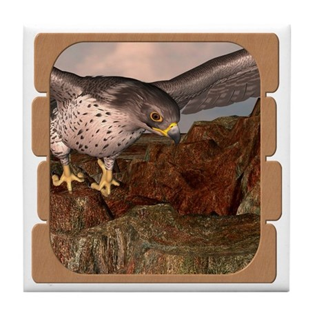 Flight of the Gyr Falcon Tile Coaster