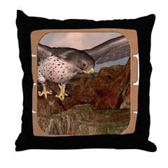 Flight of the Gyr Falcon Throw Pillow