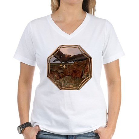 Flight of the Eagle Women's V-Neck T-Shirt
