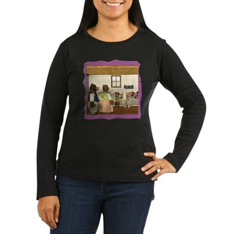 Goldilocks & The 3 Bears Women's Long Sleeve Dark