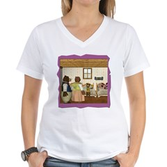 Goldilocks & The 3 Bears Women's V-Neck T-Shirt