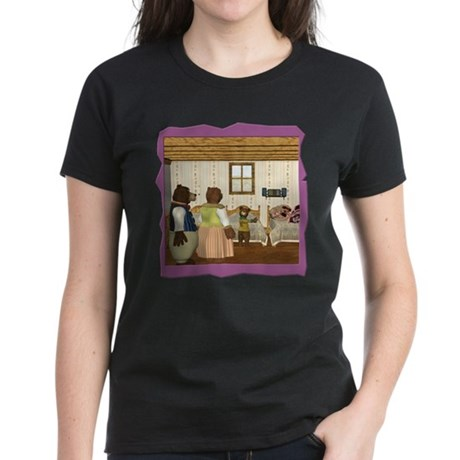 Goldilocks & The 3 Bears Women's Dark T-Shirt