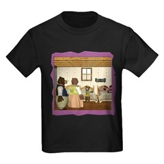 Goldilocks & The 3 Bears Kids Dark T-Shirt