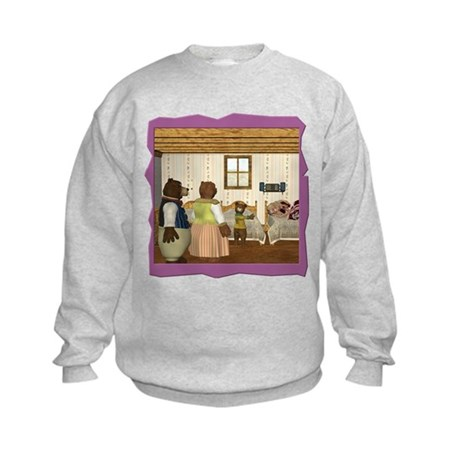 Goldilocks & The 3 Bears Kids Sweatshirt