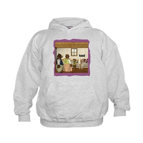 Goldilocks & The 3 Bears Kids Hoodie
