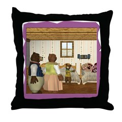 Goldilocks & The 3 Bears Throw Pillow