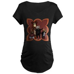 Hickory, Dickory, Dock Maternity Dark T-Shirt