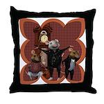 Hickory, Dickory, Dock Throw Pillow