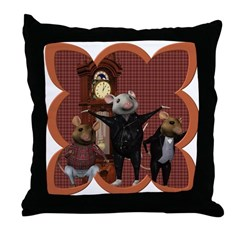 Hickory, Dickory, Dock Throw Pillow