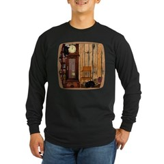 HDD Up the Clock! Long Sleeve Dark T-Shirt