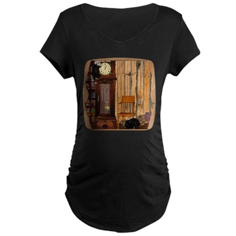 HDD Up the Clock! Maternity Dark T-Shirt