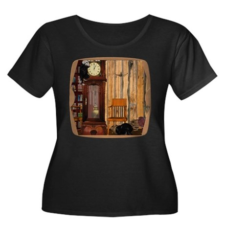 HDD Up the Clock! Women's Plus Size Scoop Neck Dar