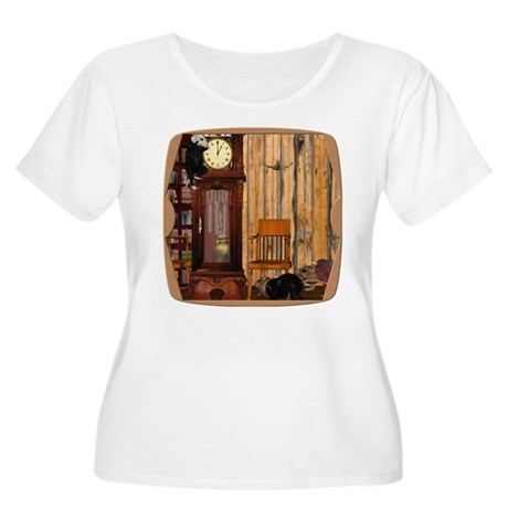 HDD Up the Clock! Women's Plus Size Scoop Neck T-S