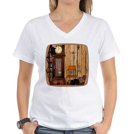 HDD Up the Clock! Women's V-Neck T-Shirt